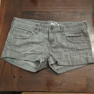 Grey Roxy Cuff Shorts